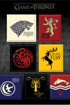 Game of Thrones Magnet Set: House Sigils