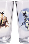 Frazetta ''Warriors & Women'' Boxed Pint Glass Sets: Silver Warrior and The Huntress