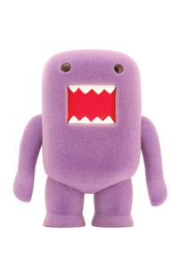 "Domo 4"" Flocked Vinyl Figure: Grape Soda"