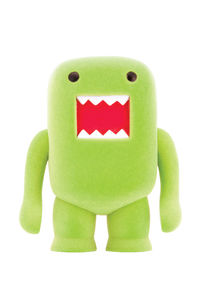 "Domo 4"" Flocked Vinyl Figure: Lime Soda"