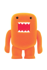 "Domo 4"" Flocked Vinyl Figure: Orange Soda"
