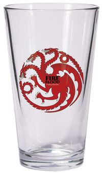 Game of Thrones Pint Glass: Targaryen Sigil
