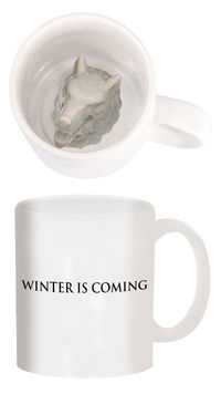 Game of Thrones Coffee Mug: Stark Sculpted Wolf