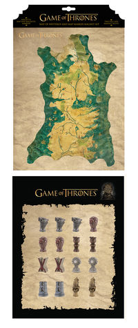 Game of Thrones Magnet Set: Map of Westeros and Map Marker