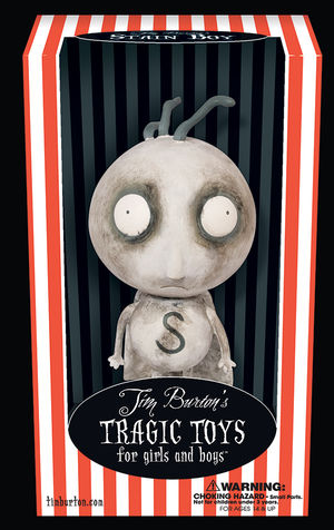 Tim Burton Vinyl Figure Stain Boy Profile Dark