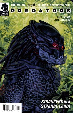 cover art for Predators comic book from Dark Horse comics