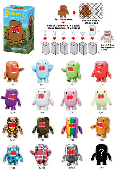 "Domo 2"" Mystery Qee - Individual Figure"