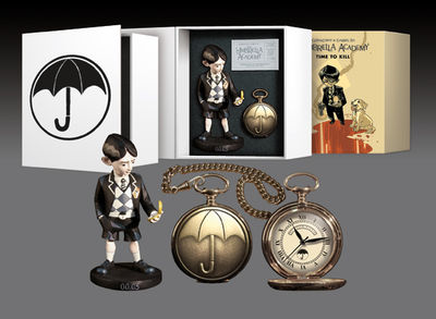 Umbrella Academy Pocket Watch and Statue Set
