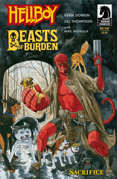 Beasts of Burden/Hellboy (One Shot) (Jill Thompson cover)