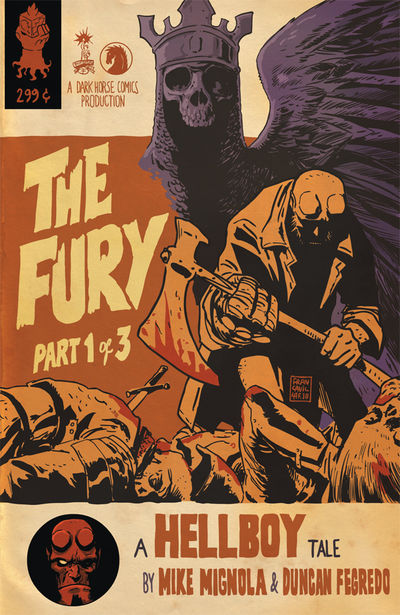 Hellboy: The Fury #1 (Francesco Francavilla variant cover)