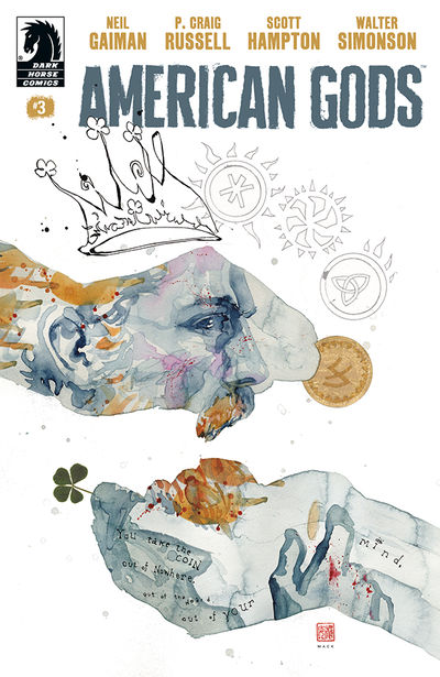 American Gods: Shadows #3 (David Mack variant cover)