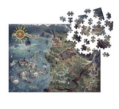 Witcher 3 - Wild Hunt Puzzle: Witcher World Map