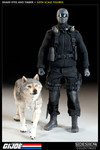 GI Joe Sideshow Collectibles 12 Inch Snake Eyes and Timber Figure Set