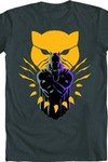 Black Panther Strong Black Panther Heavy Metal T-Shirt SM