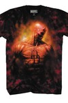 Daredevil Flame On Previews Exclusive Black/red T-Shirt LG