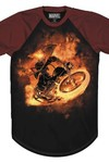 Ghost Rider Flame Whip Previews Exclusive Black T-Shirt MED