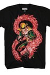 Iron Fist Dragon Punch Previews Exclusive Black T-Shirt LG
