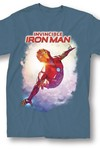 Marvel Invincible Iron Man #1 Heather Blue T-Shirt XL
