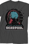Deadpool Brain Scan Charcoal T-Shirt LG