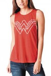 DC Movie Wonder Woman Jrs Cut-out Red Tank LG