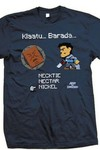 Army Of Darkness 8-bit Ash Previews Exclusive Blue Dusk T-Shirt MED