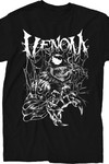 Marvel Venom Metal Black T-Shirt LG