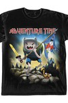 Adventure Time Metal Fantasy Black T-Shirt MED