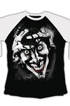 DC Comics Killing Joke White & Black Raglan T-Shirt MED