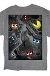 Pac-man 3d Maze Graphite Heather T-Shirt XL