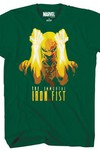 Marvel Fists A Flame Forest Green T-Shirt LG