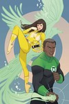 Justice League Power Rangers #1 (of 6) (Green Lantern Yellow Ranger Variant Cover Edition)