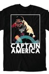 All New Captain America Box Blk T-Shirt LG