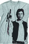 Star Wars Han The Man Heather Grey T-Shirt LG