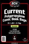 BCW Resealable Comic Bags  100 pk (Current)