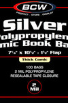 BCW Thick Comic Bags  100 pk (Silver)