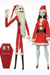 NBX Santa Jack & Sally Coffin Doll Ltd Set