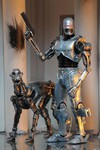 Robocop vs. Terminator 7in Scale Action Figures  - Endocop and Terminator Dog 2-Pack