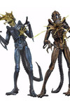 Aliens Series 12 7-Inch Action Figure - Battle Damaged Xenomorph Warrior (Blue)