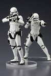 Star Wars Episode VII Force Awakens First Order Stormtrooper Artfx+ Statue 2-Pack
