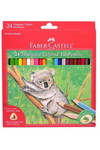 6. Faber-Castell Triangular Colored EcoPencils - 24 CT