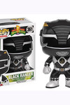 Pop Television Power Rangers Black Ranger Vinyl Figure