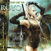 Fantasy Art Of Luis Royo 2014 Wall Calendar