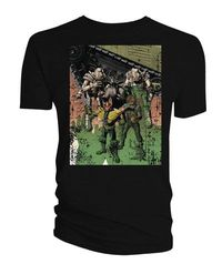 2000 A.D. Dredd Cursed Earth Uncut By Bolland Previews Exclusive Blk T-Shirt LG