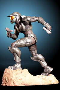 Halo 3 Steel Spartan Previews Exclusive Artfx Statue