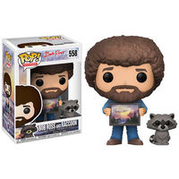 Pop Television - Bob Ross with Raccoon Vinyl Figure