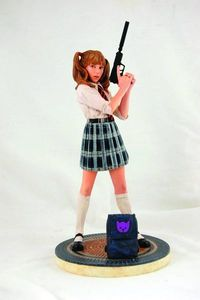 Hit Girl School Girl Statue