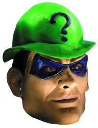 Batman Rogues Riddler Mask Adult Mask