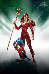 Blackest Night Series 7 Red Lantern Mera Action Figure