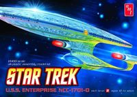 Star Trek Enterprise 1701d 1/1400 Scale Clear Ed Model Kit