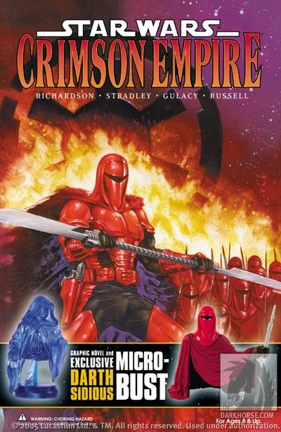 Star Wars: Crimson Empire Book and Exclusive Bust-Up Set - nick & dent